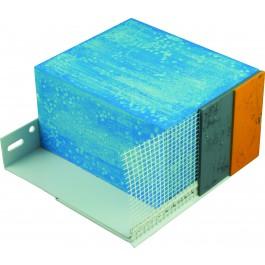 Sokkel PVC verstelb 180-240mm 2.00mtr
