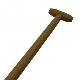 Schopsteel geheel gebogen 110cm